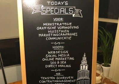 Creatief CV op krijtbord