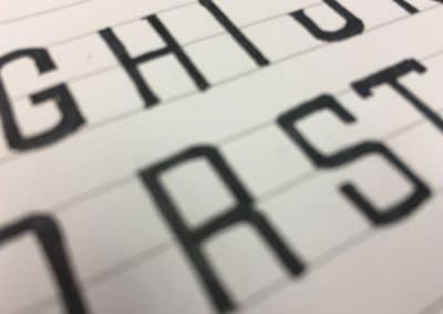 Een eigen gemaakt lettertype