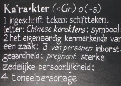 Krijtbord Café Karakter
